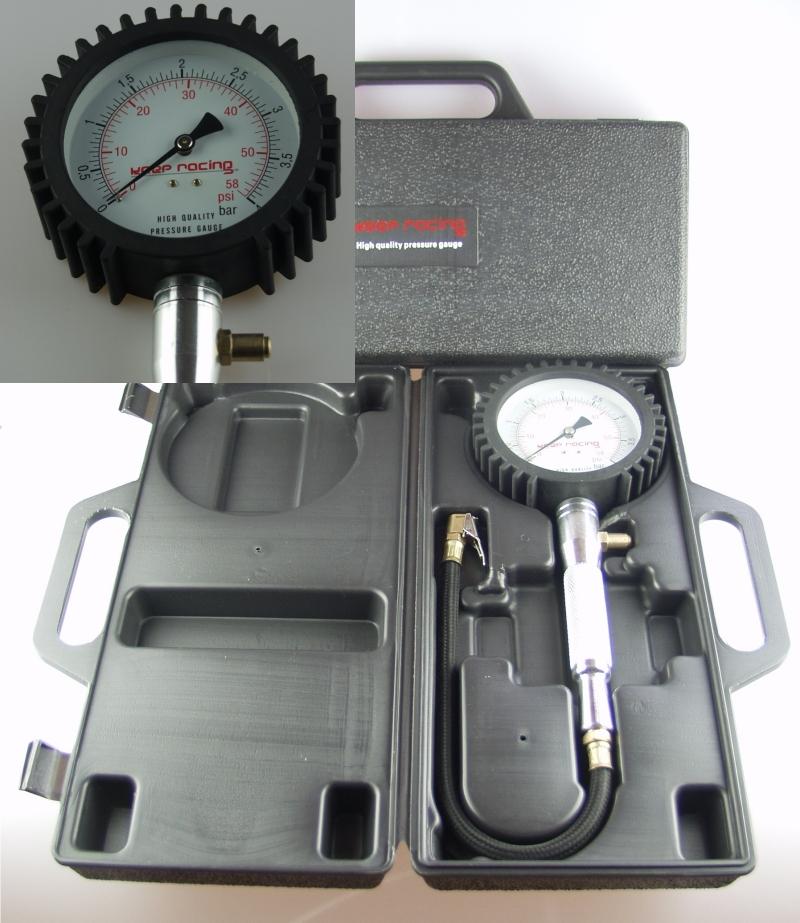 Luftdruckpruefer-Luftdruckmesser-fuer-Kart-Reifen-Felgen-0-4-bar-0-05-Skala
