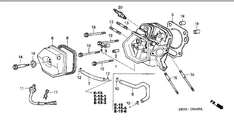 honda gx140 parts diagram