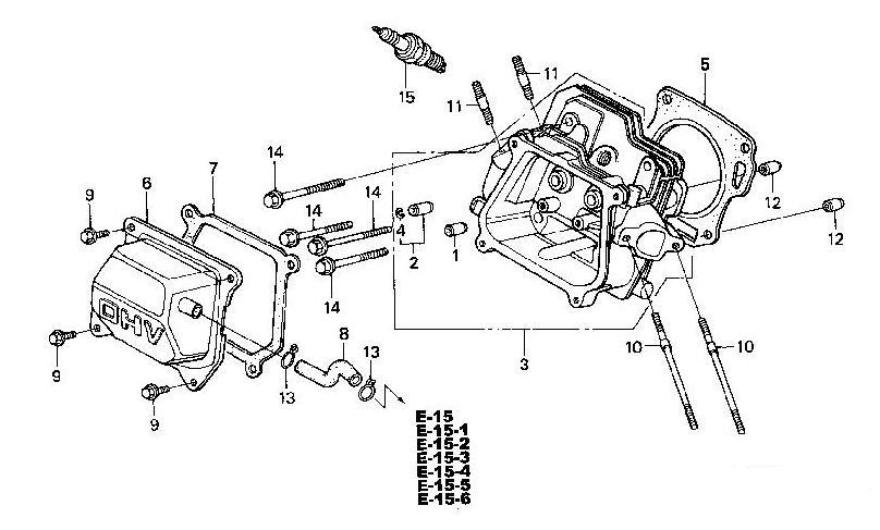 Flanschschraube Zylinderkopfdeckel M6x12 90013-883-000 HONDA Motor Typ GX270