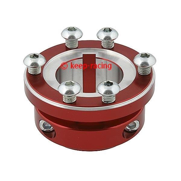 porte couronne aluminium anodise rouge 30mm pour 125 carrosseries et pare chocs essieu arri re. Black Bedroom Furniture Sets. Home Design Ideas