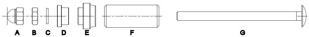 28mm Schraubensatz für Heckauffahrschutz XTR14